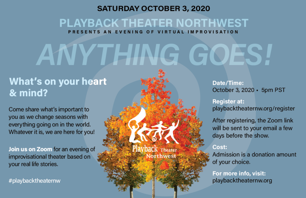 playback theater nw seattle improv show online october 3 2020